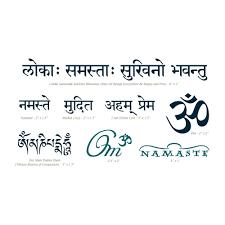 temporary tattoos pack sanskrit om manifestation temporary