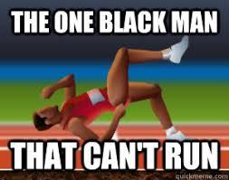 Qwop Meme - the one black man that can t run qwop quickmeme