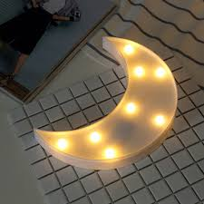decorative lights for home decorative crescent moon led night lights table lamp fairy lights