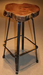 rustic industrial bar stools industrial bar stool forged metal natural mesquite rustic