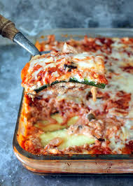 Ingredients For Lasagna With Cottage Cheese by Low Carb Zucchini Lasagna With Spicy Turkey Meat Sauce Ambitious