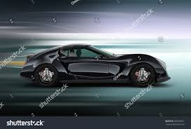 sports cars side view side view black sports car motion stock illustration 285350021