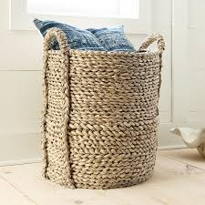 Large Basket For Storing Throw Pillows Large Seagrass Basket Wisteria