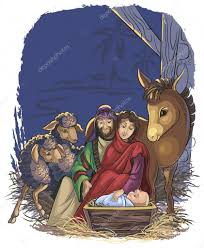 christmas nativity scene with holy family bible story of the
