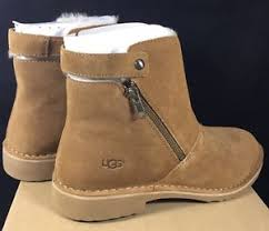 s ugg ankle boots ugg australia kayel suede sheepskin chestnut ankle boots 10 5