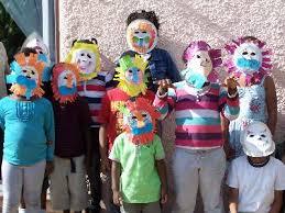 lion mask for kids craft animal paper plate masks