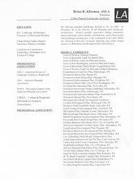 Landscape Owner Resume About The Owner Landscape Architects Inc