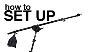boom arm light stand softox set up guide how to assemble
