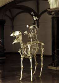 Halloween Skeleton Dog by Love Lasts Forever U0027 Maurizio Cattelan 1999 Skeletons Of A