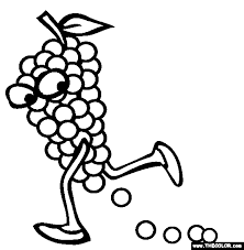 grapes coloring page free grapes online coloring