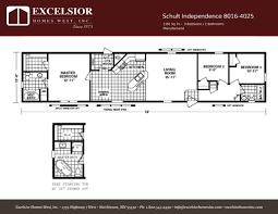 schult floor plans schult independence 8016 4025 excelsior homes west inc