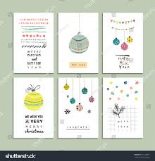 holiday invitation cards set cute hand drawn cards merry stock vector 327120887 shutterstock