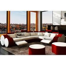 canape d angle design cuir canapé d angle design en cuir et blanc roma achat vente