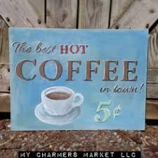 coffee sign coffee print kitchen wall decor black and