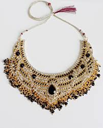 statement necklace store images Mahiya black and gold statement necklace moonlight tabu online JPG