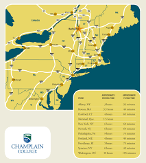Porter Airlines Route Map by Maps U0026 Directions Champlain College