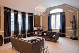 feng shui living room design using modern classic furniture black