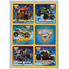 grave digger monster truck birthday party supplies monster jam 3d sticker sheet1 monster jam monsters and party