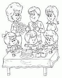 coloring pages birthday party coloring home