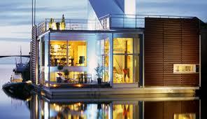 beach house with floating glazed upper floor modern house designs