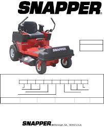 snapper lawn mowers scrambler szt18386bve pdf user u0027s manual free
