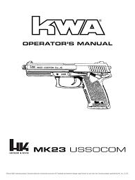 kwa mk23 manual trigger firearms firearms