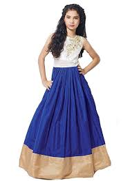 mahavir fashion kids wear girls benglory silk lehenga choli for