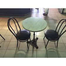 Outdoor Table Legs Brasserie 3 Black Table Base Dining Height 29
