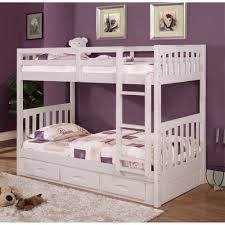 Bunk Bed With Slide Out Bed Braeburn Bunk Bed With Slide Out Trundle 98922tttr Wh