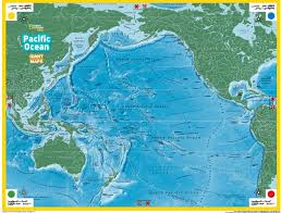 Map Of Oceans The Giant Traveling Map Of The Pacific Ocean Alabama Geographic