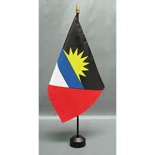 Flag Of Antigua Country 8 U0027 X 12 U0027 Mounted E Gloss Flag Closeouts Eder Flag