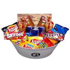 non food gift baskets the junk foodie care package the brobasket amazing gifts for men