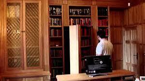 Bookcase With Lock Cabinet Hiden Door Secret Door Bookcase Hidden Youtube Alolatc
