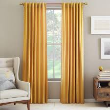Mustard Colored Curtains Inspiration Innovative Yellow Cotton Curtains Inspiration With Nailhead Yellow