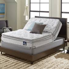 Queen Size Bed With Mattress Serta Extravagant Plush Pillowtop Queen Size Mattress Set With
