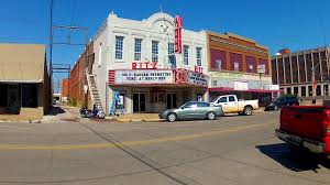 intersection in small town america shawnee oklahomna stock video