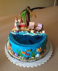 12 cool beach birthday cake ideas
