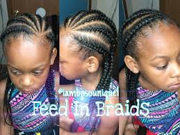 how to do feed in braids cornrows youtube