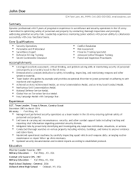Fake Work Experience Resume Security Specialist Cover Letter