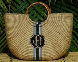 monogrammed basket monogrammed large half moon straw basket want it got to it
