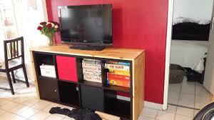 meuble tv avec bureau un meuble télé avec kallax bidouilles ikea