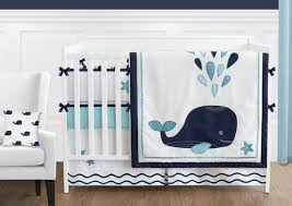 blue whale 9 piece baby boy or bedding crib set by sweet