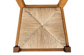 chaise en bois et paille chaise rustique en chêne massif et assise paille hellin