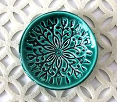 ceramic crystal ring holder images Green ring dish handmade jewelry bowl bohemian jpg