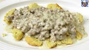 biscuits and gravy low carb recipe youtube