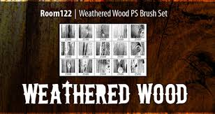 Create Wood Shelf Photoshop by 25 Wood Photoshop Brushes