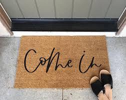 Come In And Go Away Doormat Funny Door Mat Etsy