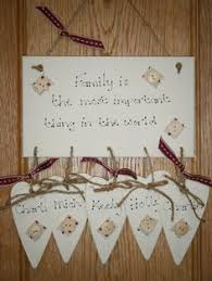 personalised wooden gift shabby chic family plaque