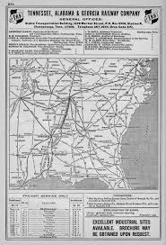 Map Of Alabama And Tennessee by The Tennessee Alabama And Georgia Railway The Tag Route