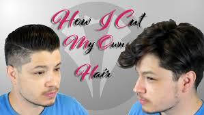 how i cut my own hair undercut short sides long top youtube